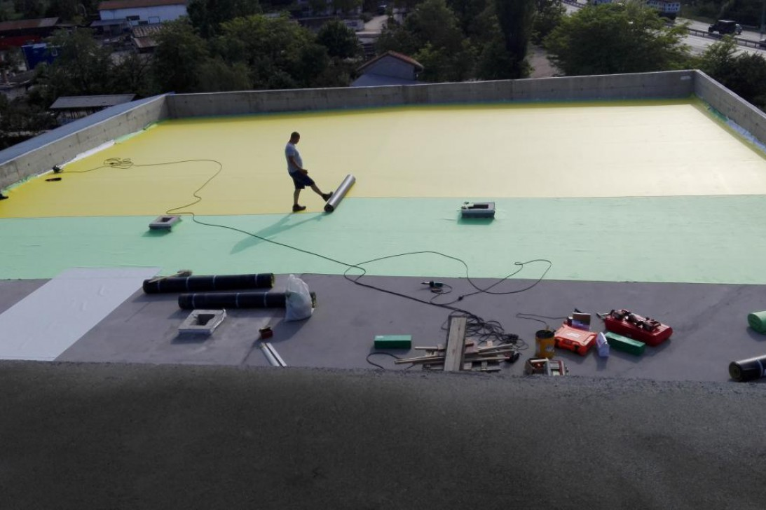 Flat roofs with ballast